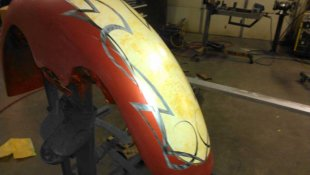 painted front fender