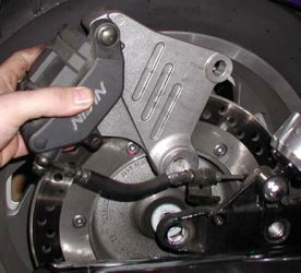 Rear brake caliper mount