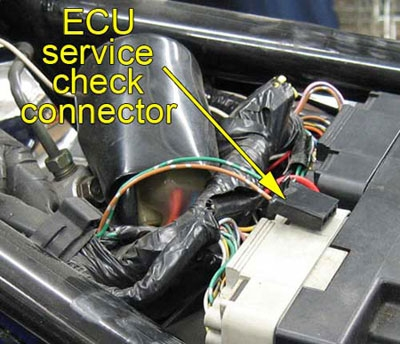 02-04 VTX 1800 ECU service check connector