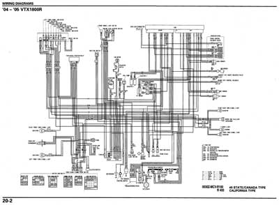 Motorcycle Wire Schematics moreover  on vtx 1800n