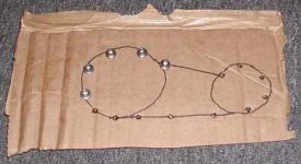 Cardboard bolt template