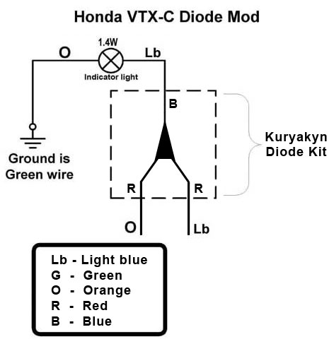 kury_diode_schematic vtx 1800c diode fix bareass choppers motorcycle tech pages 2003 Honda Element Engine Harness at eliteediting.co