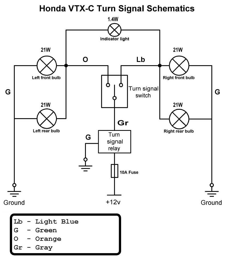 signal_schematic vtx 1800c diode fix bareass choppers motorcycle tech pages wiring diagram for motorcycle turn signals at beritabola.co