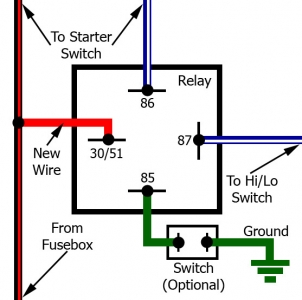 Start switch relay bypass