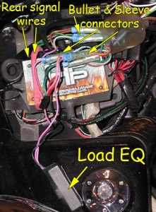 Load equalizer connected under right side cover