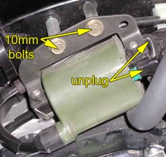 Rear cylinder ignition coil