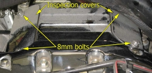 Rear cylinder inspection covers
