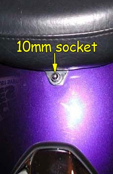 Passenger seat bolt