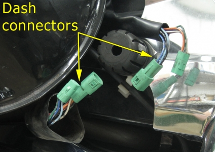 Dash panel connectors