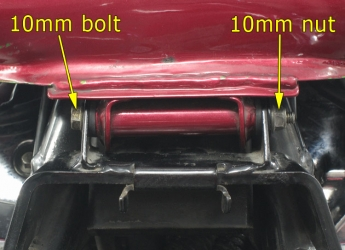 Rear tank mounting bolt