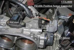 VTX 1800 throttle body