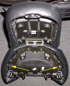 Stock seat bolt holes