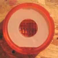 Plexiglas donut inside of blinker lens