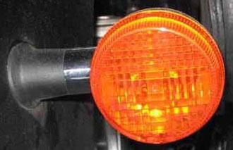 Turn signal w/ LED donut installed