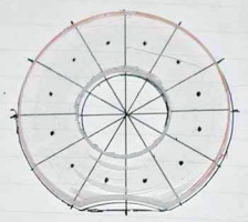 Plexiglas overlay for marking LED locations