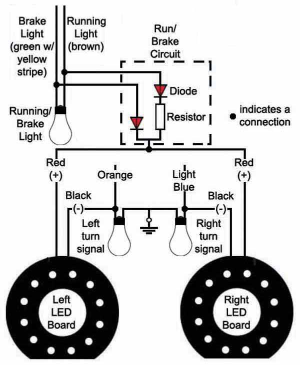 wiring diagram for motorcycle running lights the wiring diagram rear running lights mod  bareass choppers motorcycle tech pages wiring diagram