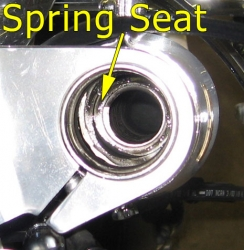 Right fork spring seat