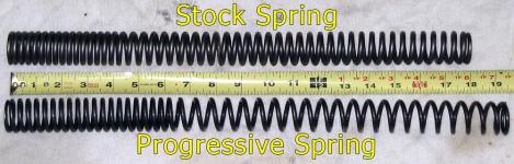 VTX 1300 fork spring comparison