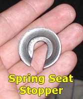 Spring seat stopper