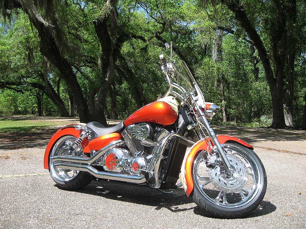 The Oc Orange Chrome Bike 171 Bareass Choppers Motorcycle