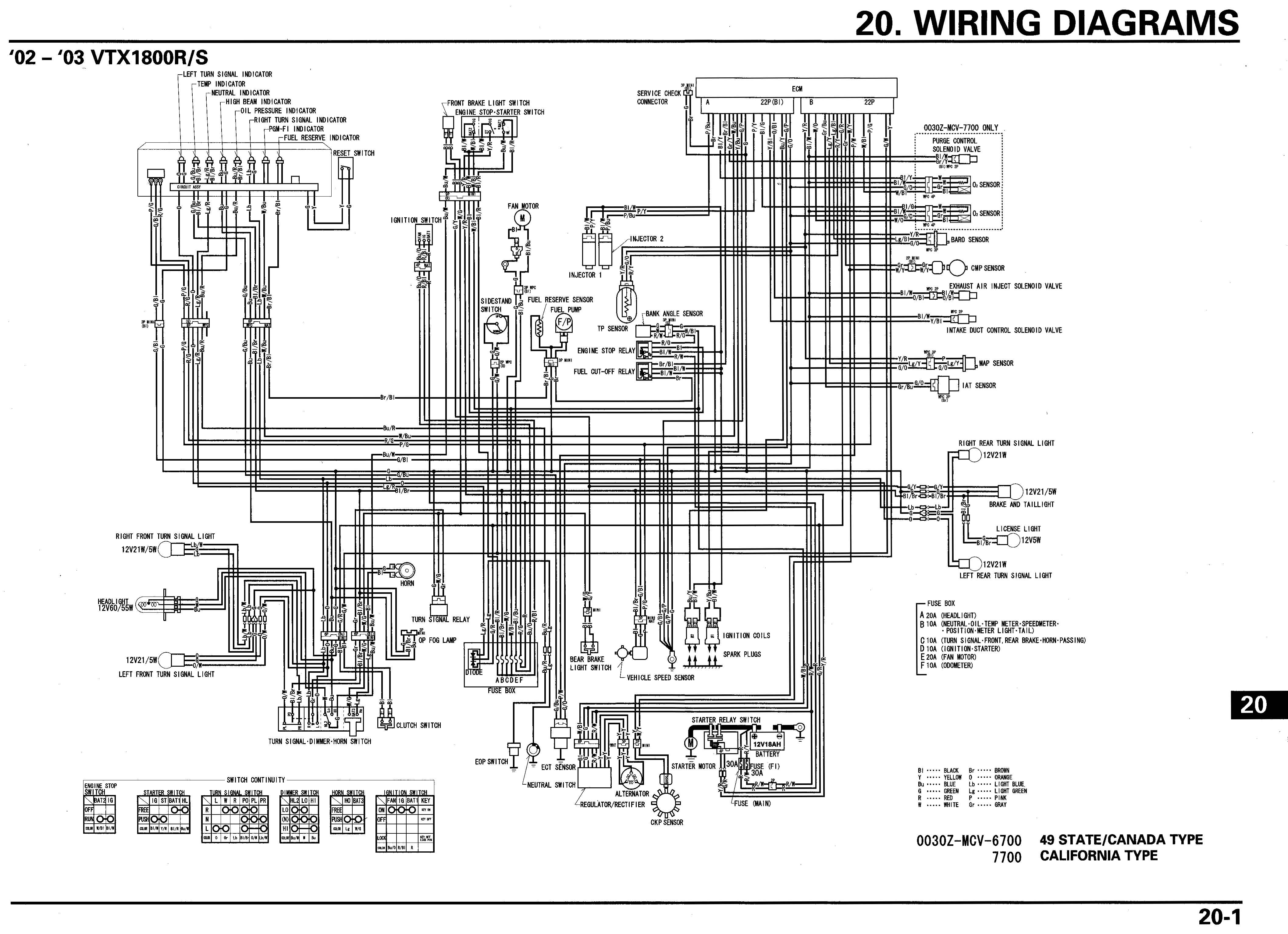 motorcycle wire schematics bareass choppers motorcycle tech pages rh tech bareasschoppers com 2006 honda vtx 1800 wiring diagram 2006 honda vtx 1800 wiring diagram