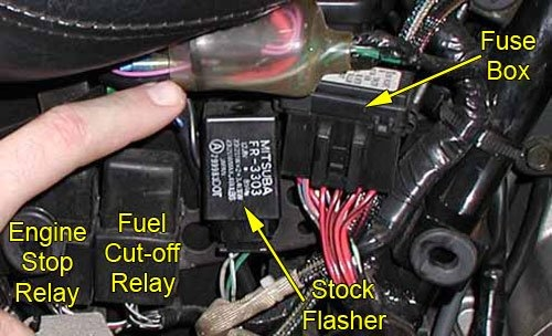 honda vfr 800 fuse box location replacement flasher laquo bareass choppers motorcycle tech pages