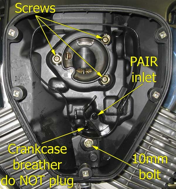 VTX 1300 Desmog laquo Bareass Choppers Motorcycle Tech Pages