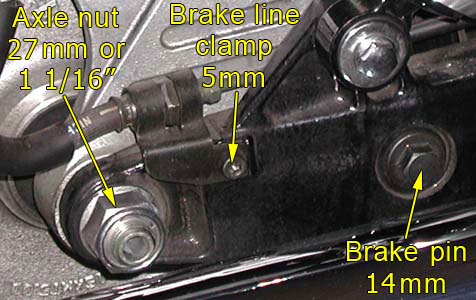Can You Drive On A Flat Tire >> Remove/Install Rear Tire (VTX) « Bareass Choppers Motorcycle Tech Pages